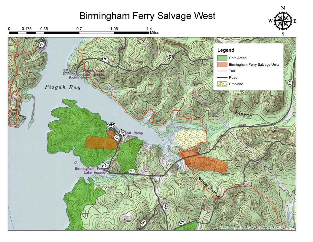 Birmingham Ferry Salvage West map