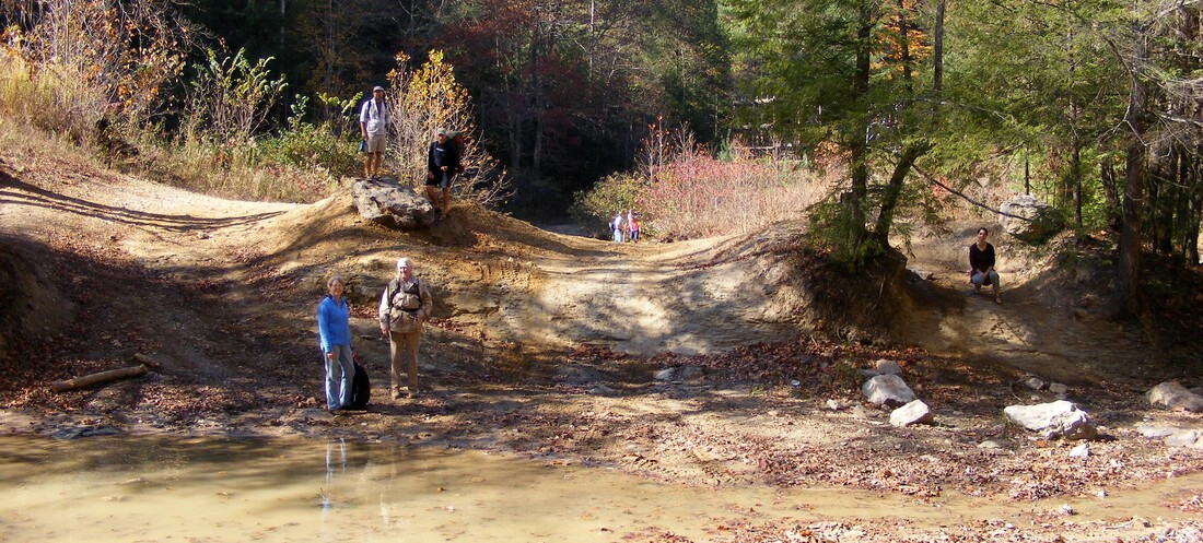 Picture: ORV damage observed in the Red River Gorge in 2008